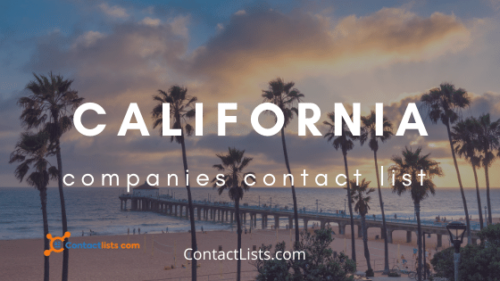 California Companies Email Contact Lists