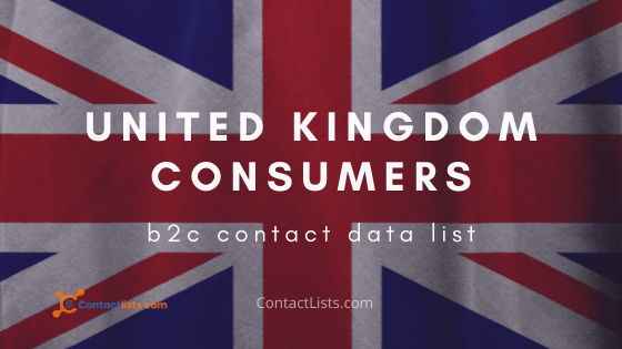 B2C Contact Mailing List for UK Consumers